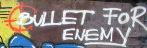 Grafitti in Pristina, 2003
