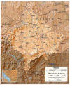 Kosovo Topographical Map (United States State Department) - 887 KB JPEG Image